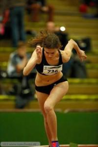 02.Februar 2015  WDHM Dortmund Andrea Donner beim 200m Start-1